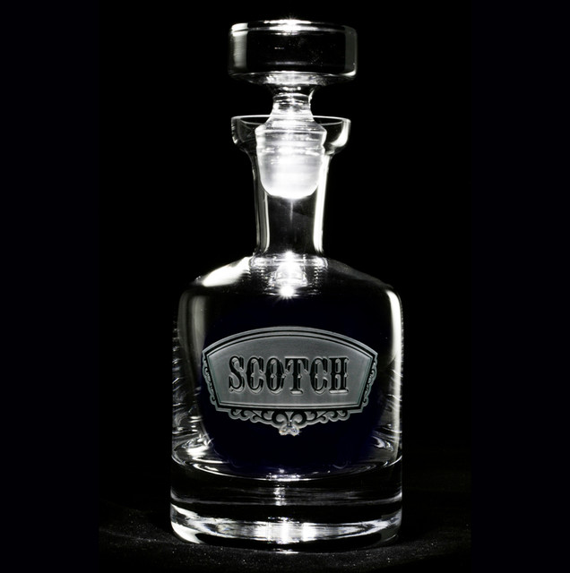 ... Scotch Banner Decanter - Traditional - Decanters - by Crystal Imagery