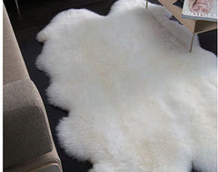 Natural Quatro Sheepskin Area Rug modern rugs