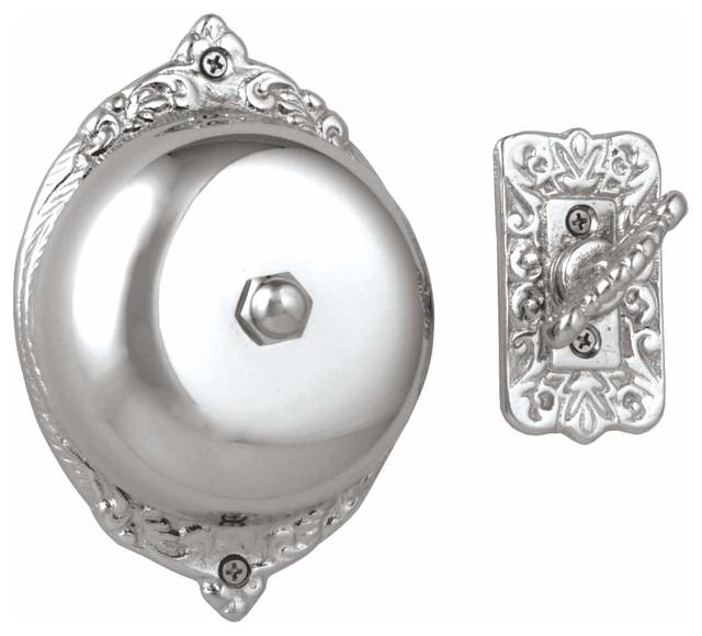 Door Bells Chrome Mechanical Doorbell 3 1/2 Dia | 18568 contemporary-doorbells-and-chimes