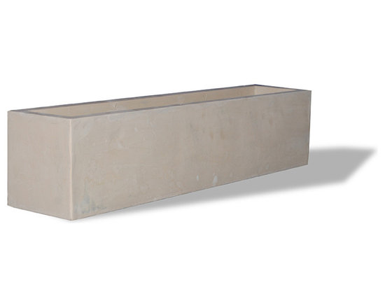 Amedeo Design, LLC - USA - Modern Window Box - Our Contemporary Window Box is simple, elegant and essential. Our contemporary line is highly suitable for all gardens. Extremely durable, you will be enjoying these pieces for years and years to come. When built with our remarkable ResinStone, this piece will stand against any condition. Made in USA.