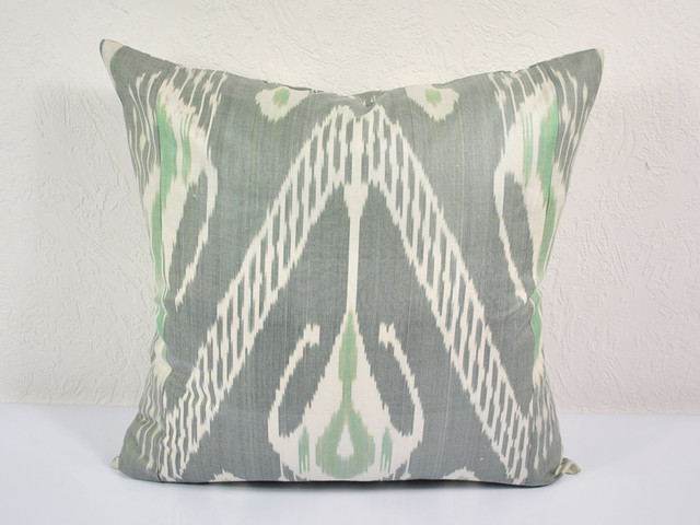 gray ikat pillow eclectic-decorative-pillows
