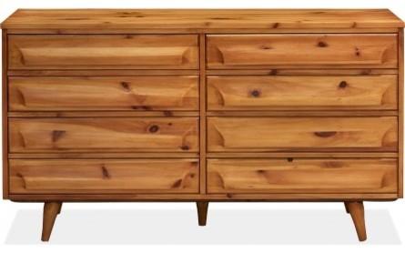 Franklin Shockey Solid Pine Sculptural Dresser ...