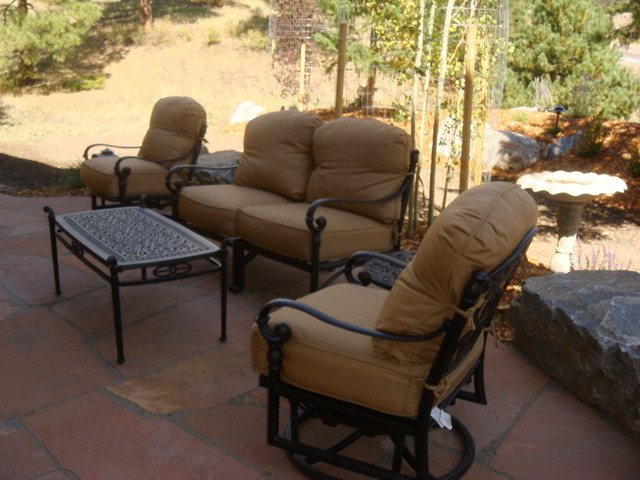 Patios Rock Work Traditional Outdoor Rocking Chairs Denver By Bear Creek Landscape
