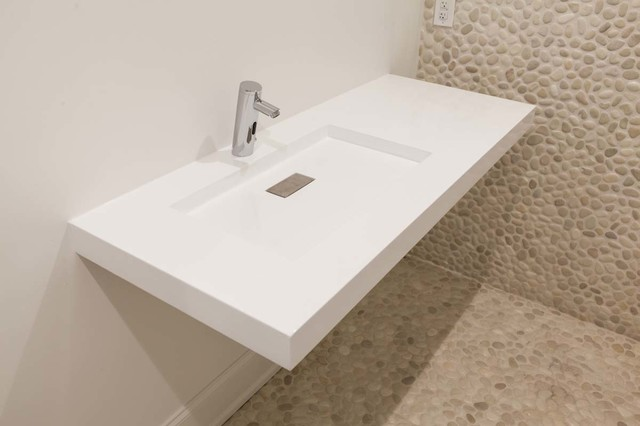 Concrete Bathrooms Contemporary Bathroom Sinks other