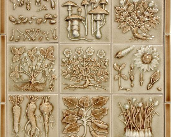 DW Vintage Illustration - Vintage Illustration 6x6 hand painted ceramic tile in DW40