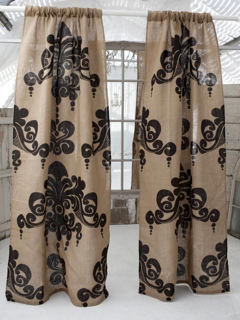 Couture Dreams Enchantique Natural/Bark Jute Window Panels curtains
