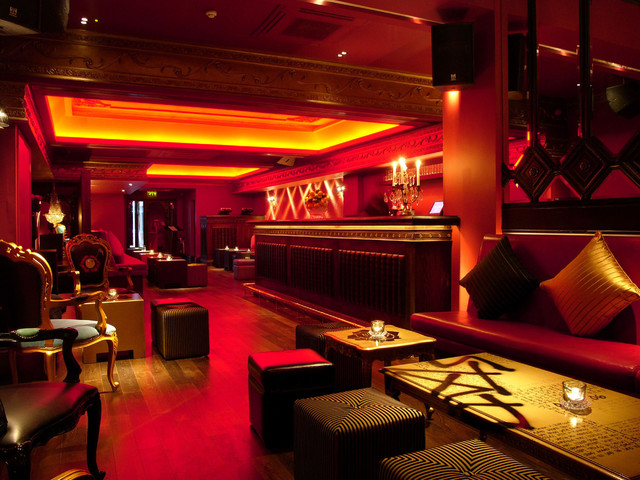 Bar seating area night club interior design london for Interior design london