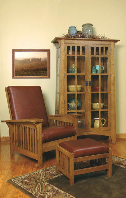 Mission-style White Oak Living Room Furniture - Craftsman - cleveland...
