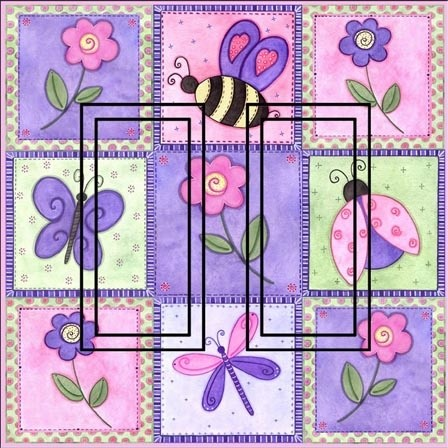 Pink Springtime OP Double Rocker Peel and Stick Switch Plate Cover rustic-wall-decals