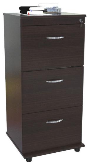 3 Drawer Pedestal File With Locks - Modern - Filing Cabinets - by Modern Furniture Warehouse