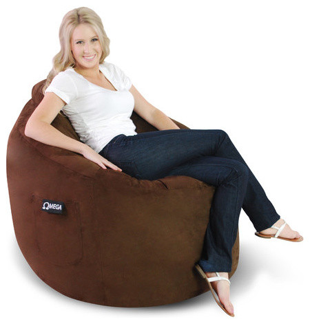 Omega Kid's Bean Bag Lounger modern-indoor-chaise-lounge-chairs