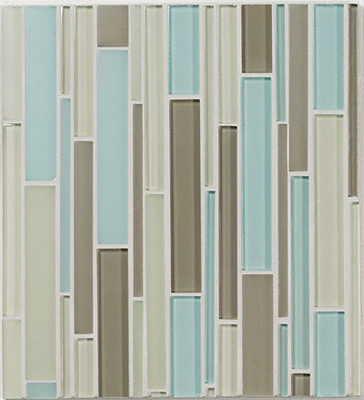 Walker Zanger Avenue Blend Linear Field  bathroom tile