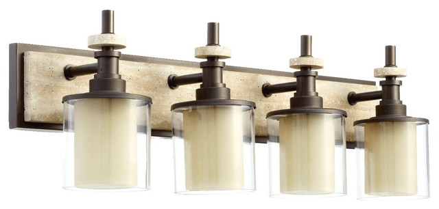 Quorum Lighting Concord Transitional Bathroom / Vanity Light X-68-4-4605 contemporary-bathroom-vanity-lighting