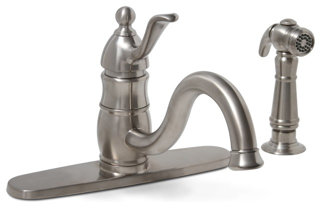 Sonoma Single-Handle Kitchen Faucet with Spray - Brushed Nickel modern-kitchen-faucets