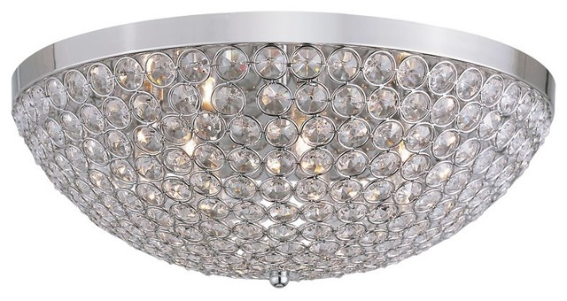 Trans Globe Lighting MDN-1098 Jeweled Crystal Contemporary Flush Mount Ceiling L contemporary-flush-mount-ceiling-lighting