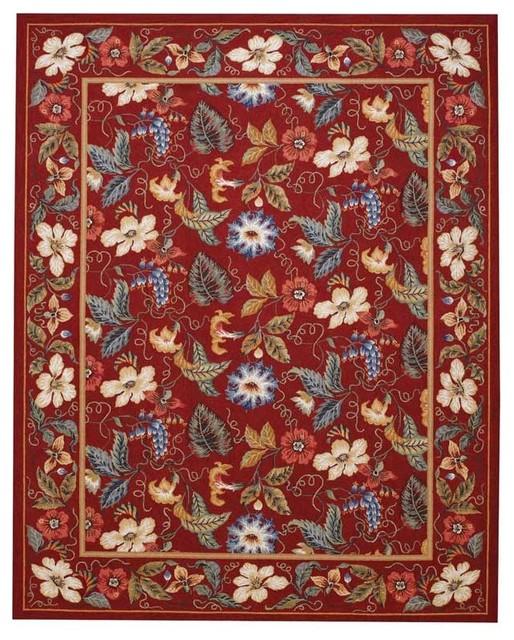 Capel Rugs English Garden Red Area Rug contemporary-rugs