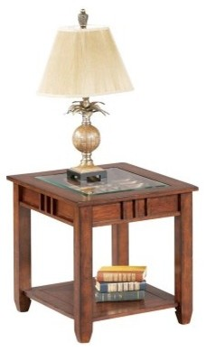 Progressive Furniture End Table - Brown Cherry modern-bar-tables