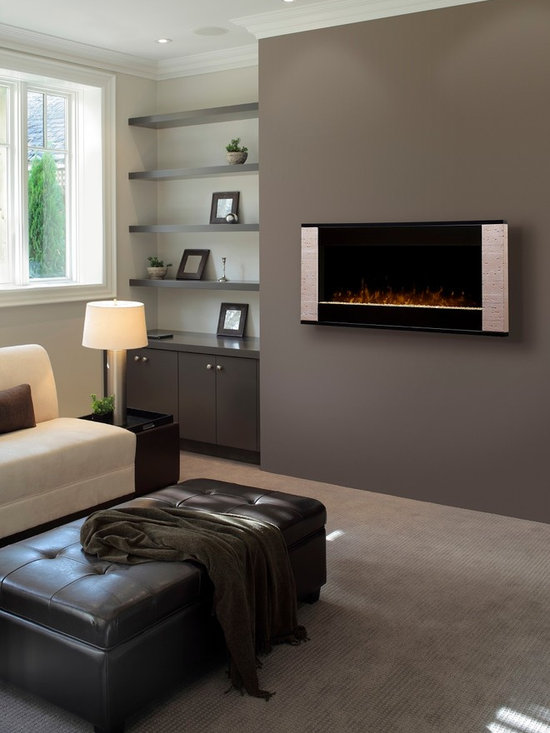 Dimplex Strata surface-mount fireplace - Jeanne Grier/Stylish Fireplaces & Interiors