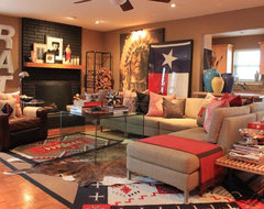 Den eclectic living room