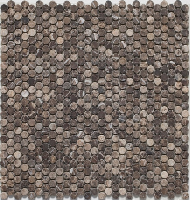 Penny Round Mosaic tiles eclectic-mosaic-tile