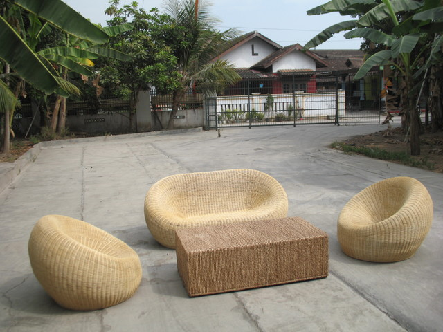 Dekok Set Rattan tropical sofas