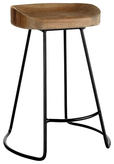 Smart and Sleek Stool - Short traditional bar stools and counter stools