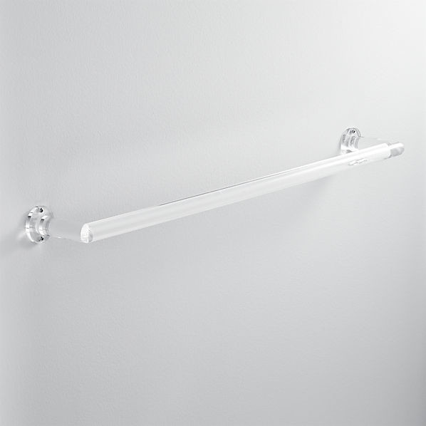 Acrylic 30-Inch Towel Bar contemporary-towel-bars