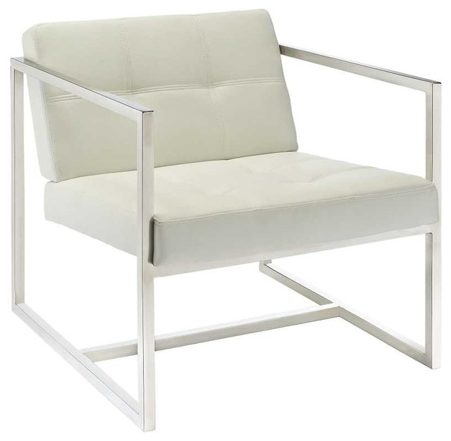 Hover Lounge Chair in White Modern Outdoor Chaise Lounges by zopalo
