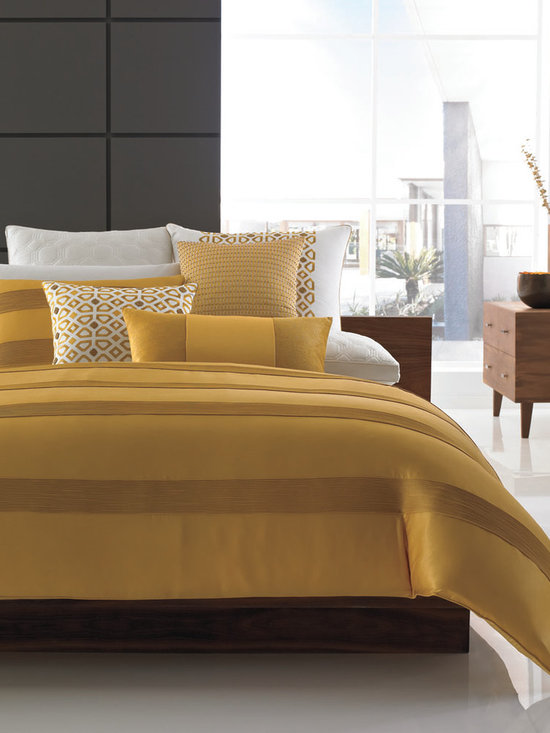 Hotel Collection Bedding, Palace - The gold standard! The Hotel Collection Palace Collection captures the essence of classic style, while infusing hints of modern elegance. Rich and understated hues play off of each other for a sophisticated finish, while ribbed accents, geometric patterns and quilted elements provide extra dimension. Bedskirt available (not pictured). Available in Queen, King and California King. Available exclusively at Macy's and macys.com