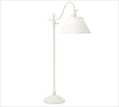 Adair Floor Lamp Distressed Antique White Traditional