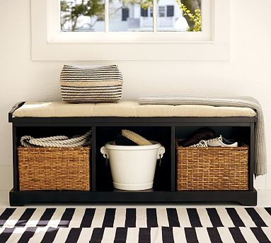 Samantha Entryway Bench Black Traditional Accent And Storage Benches By Pottery Barn