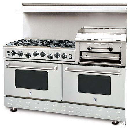 """Blue Star 60"""" Pro-Style Gas Range with 6 Open Burners eclectic-gas-ranges-and-electric-ranges"""