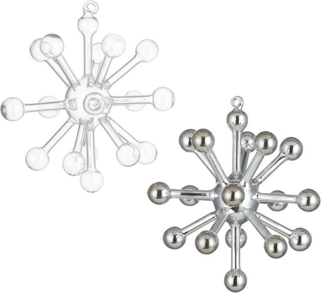 Glass Sputnik Small Ornament - Modern - Christmas Ornaments - by CB2