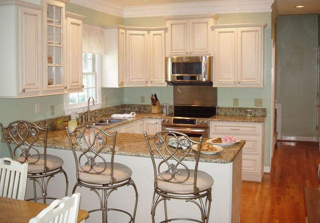 Antique White Kitchen Cabinets Home Design - modern - kitchen