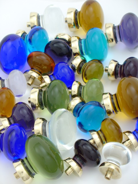 Blue glass knobs mediterranean-cabinet-and-drawer-knobs
