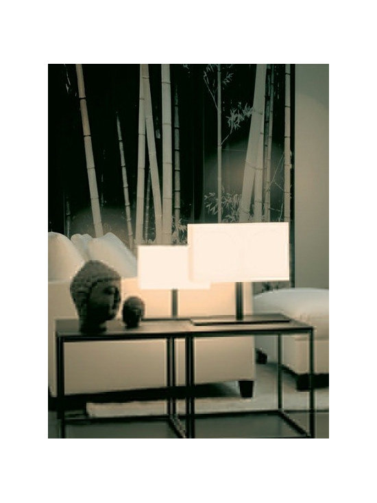 TOSCA TABLE LAMP BY PENTA LIGHT - The Tosca table lamp is an elegant rectangular table