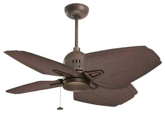 "44"" Oil Rubbed Bronze Nedmac Outdoor Ceiling Fan w/ Midnight Bordeaux Artisan Bl contemporary-ceiling-fans"