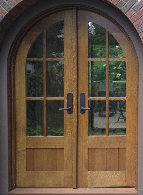 Custom built arched oak entry doors - Traditional - Front Doors - other metro - by John Huisman