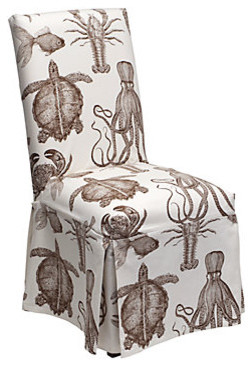Robertson Slipcovered Dining Chair - Sealife modern-dining-chairs