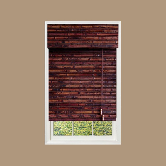 Designview mahogany nepal bamboo roman shade for Window design in nepal