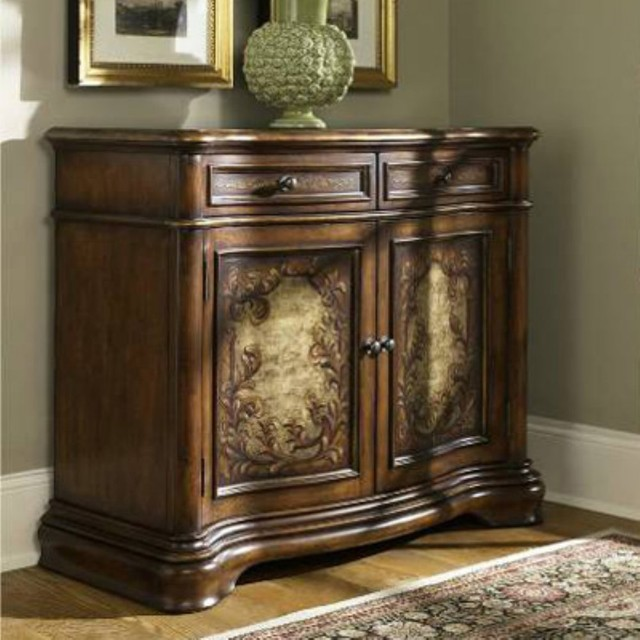 Hidden Treasures 2 Drawer Door Chest traditional-dressers