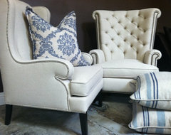 Franklin and Shannon Wing Chairs  