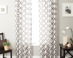 Blindsgalore Signature Drapery Panel: Penrose Sheer Burnout traditional curtains