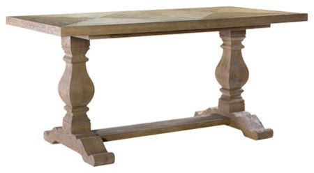 Small New Trestle Dining Table eclectic-dining-tables
