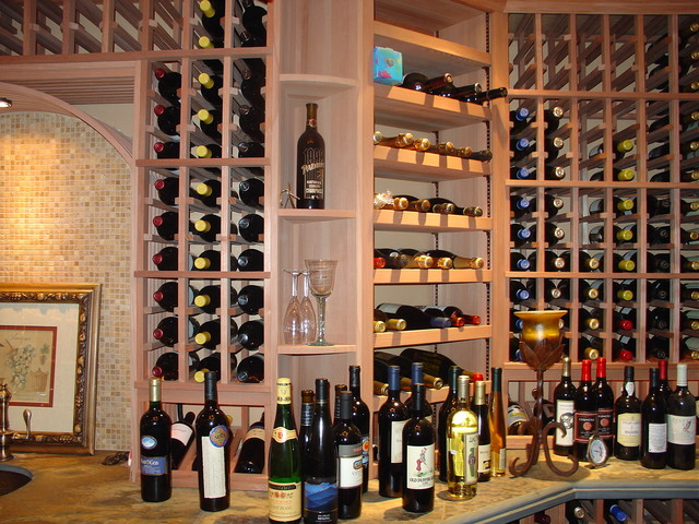 Home wine cellar traditional wine cellar by vintage for In home wine cellars
