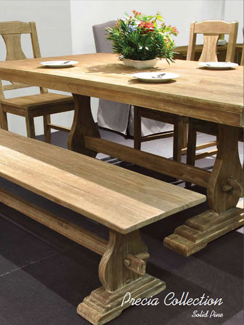 Precia Reclaimed Wood Dining Table - rustic - dining tables