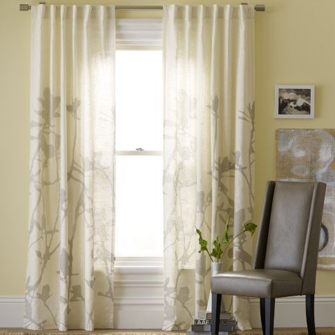 Bamboo Printed Window Panel Contemporary Curtains By West Elm