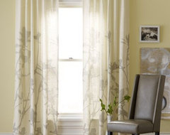 Bamboo Printed Window Panel contemporary curtains