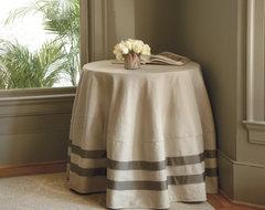 Deux Ribbon Round Tablecloth farmhouse-tablecloths