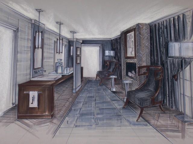 Dream Home Bathroom contemporary-rendering